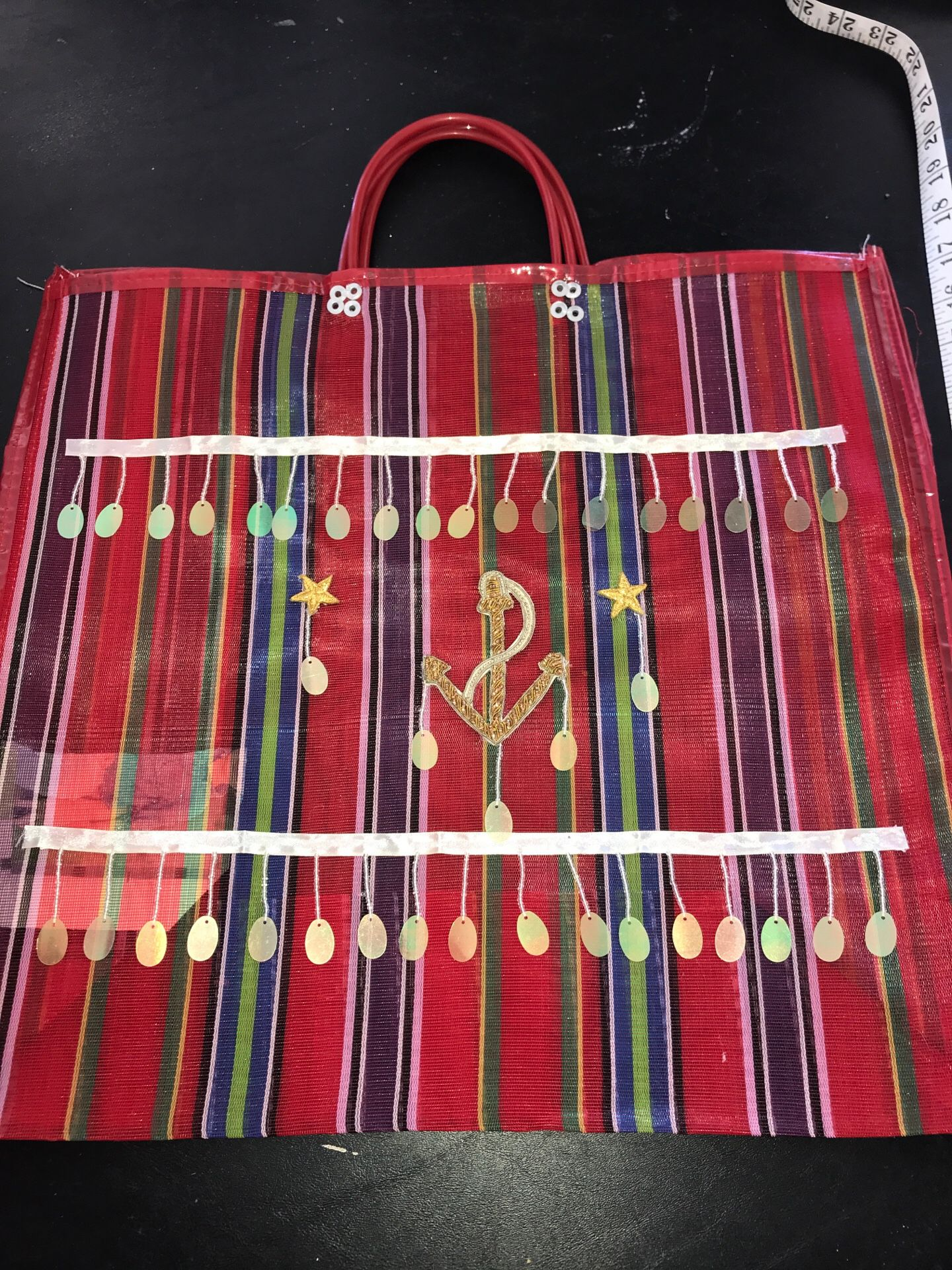 Beach bag or grocery store bag heavy duty waterproof