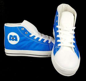 Photo Disney Pixar Monsters Inc Logo Canvas High-Top Unisex Sneakers Sz M/7 F/9 *RARE*