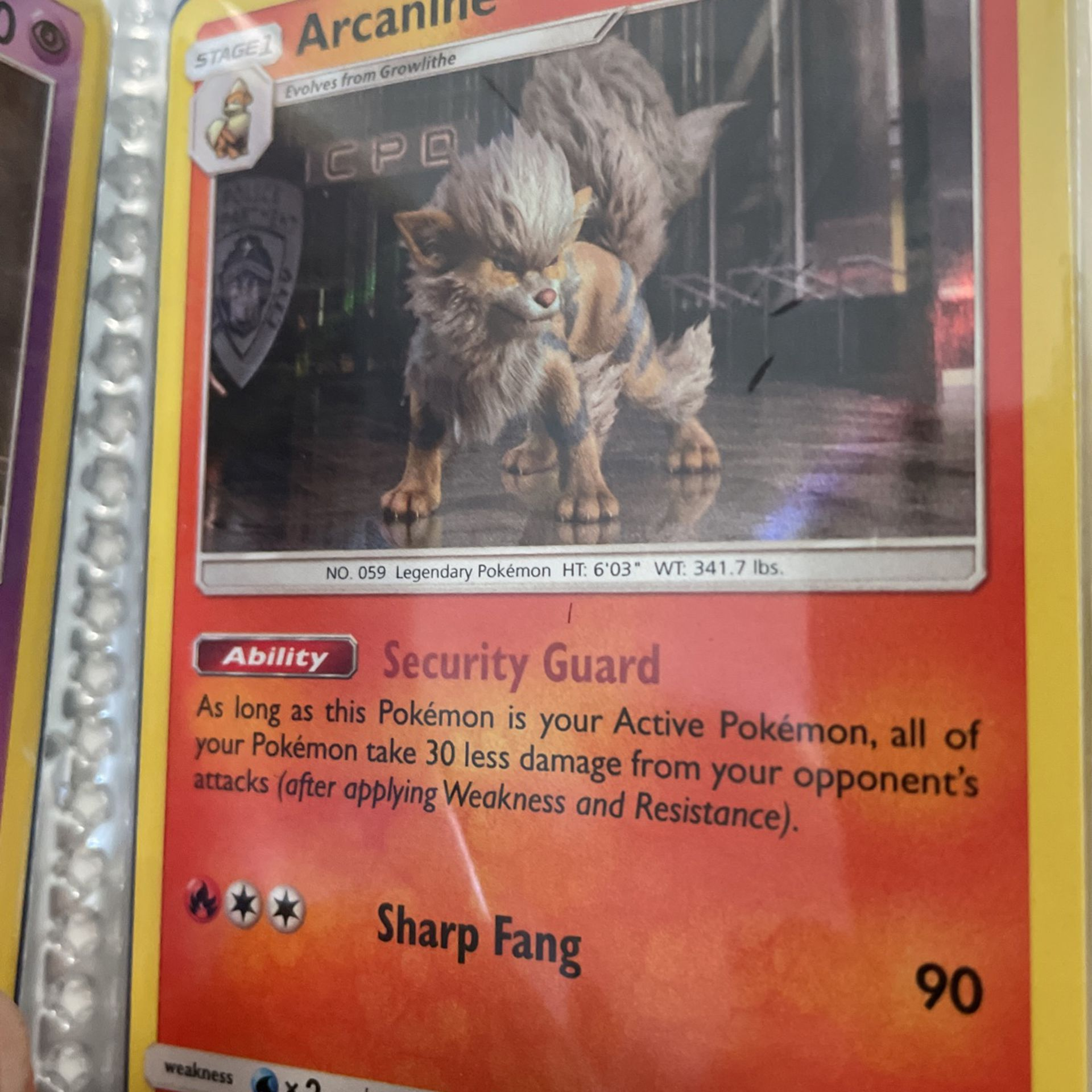 Pokémon Card Arcanine