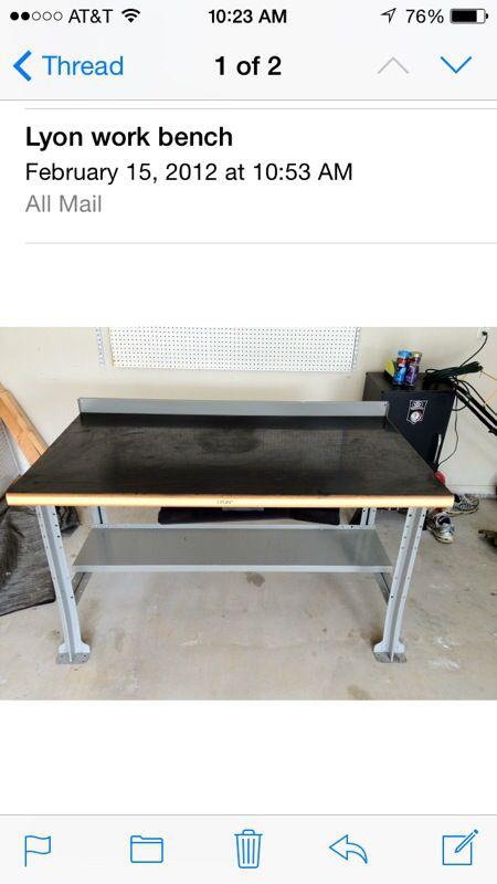 Heavy Duty Lyon Work Bench 60x34x34 For Sale In Arlington Tx Offerup