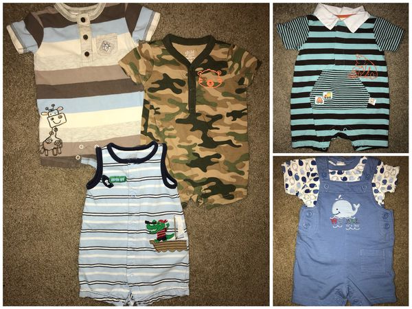 53d001c36ad7 Lot f baby boys summer clothing size 0-3 and 3 month Carters