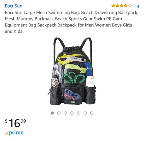 5033990894 Large Mesh Swimming Backpack for Sale in Loma Linda