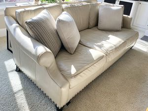 New And Used White Leather Couch For