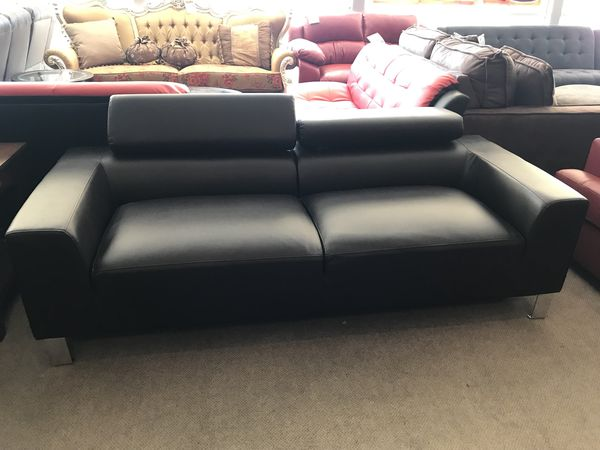 Black Bonded Leather Sofa & Loveseat for Sale in Phoenix, AZ - OfferUp