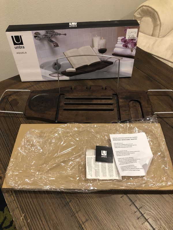 bathtub caddy wood new in box for Sale in Denver, CO - OfferUp