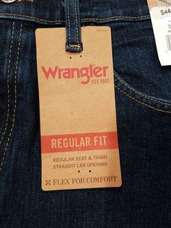 *NEW* Wrangler Mens Jeans Regular Fit 34x32 Thumbnail