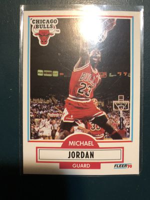 Photo Michael Jordan Basketball Card Fleer 90