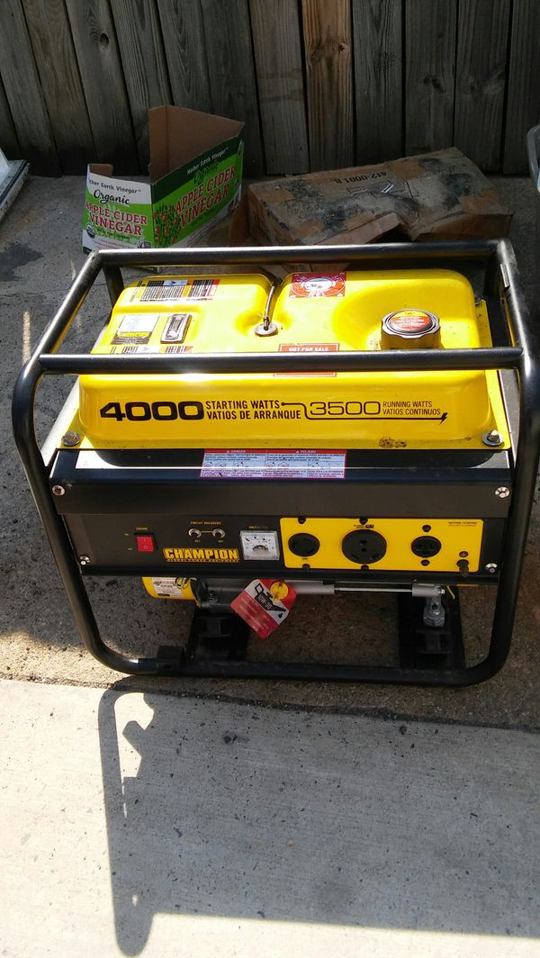Champion Generator 4000 Watts Never Used
