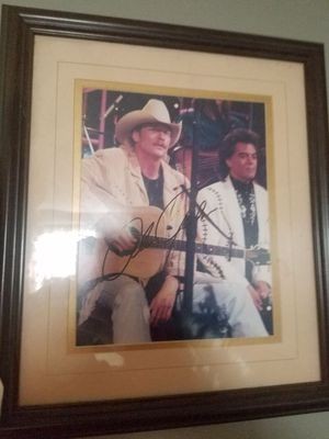 Autographed alan jackson photo with coa for Sale in OH, US
