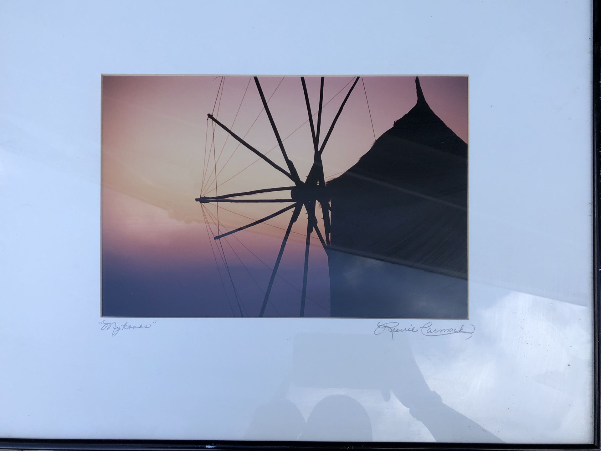 Two original photo art pieces signed by artist