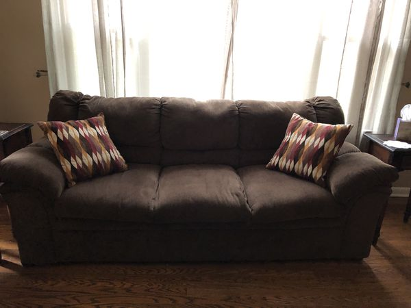 Brown Chenille Sofa - TWO YEARS OLD! for Sale in Nashville, TN - OfferUp