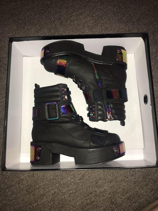 Dolls Kill Dark Rainbow Platform Boots for Sale in Tucson