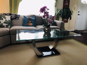 glass coffee table. 50x28 inched. No delivery for Sale in Fairfax, VA