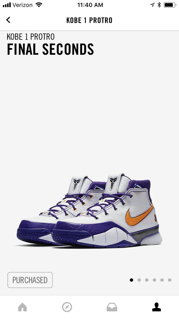 be52c18af24c Kobe 1 Protro - Final Seconds (Limited Edition) SZ 9.5 for Sale in  Charlottesville