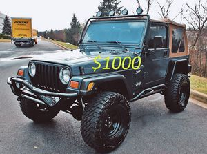 Photo Well maintained🍀2OOO Jeep Wrangler TJ Lifted🍀-One Owner-$1OOO