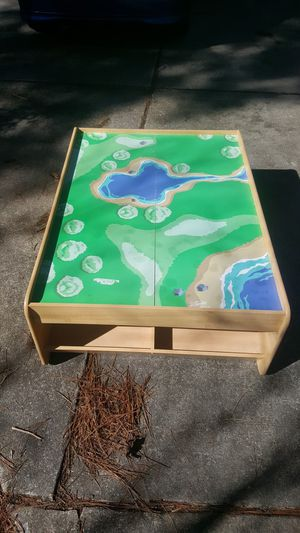 Kids play table with built in containers for Sale in Raleigh, NC