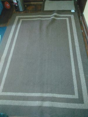 """Brown rug with size 82""""*60"""" and door mat with size 33""""*20"""" for Sale in Rolla, MO"""