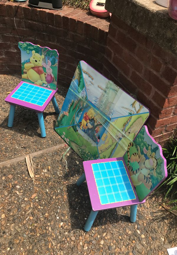Surprising Winnie The Pooh Play Table With Chairs Baby Kids In Andrewgaddart Wooden Chair Designs For Living Room Andrewgaddartcom