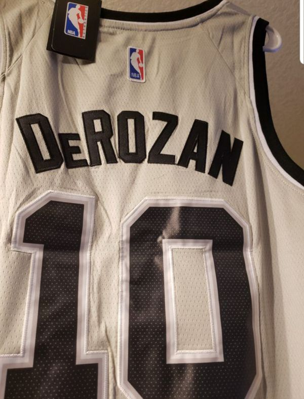 Deron Derozan San Antonio Stitched Silver Spurs Jersey with tags for ... f570bbf58