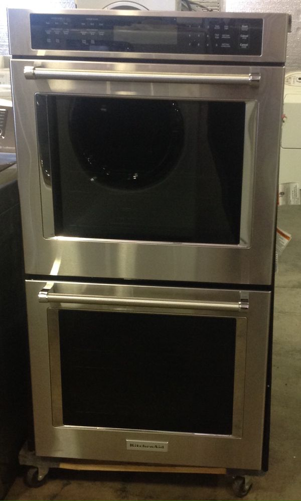 KitchenAid double oven (Appliances) in Vancouver, WA - OfferUp on sharp double oven, miele double oven, bertazzoni double oven, imperial double oven, maytag double oven, hotpoint double oven, whirlpool 27 inch double oven, frigidaire double oven, kenmore double oven, side by side double oven, jade double oven, ge double oven, small double oven, single double oven, stainless double oven, jennaire double oven, white double oven, general electric double oven, kitchen design with double wall oven, kdrs505xss double wall oven,