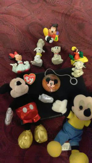 Valuable Disney Pieces . Mickey Mouse gold ring with diamonds, (size 5) Mickey Mouse , Mini Mouse, 101 Dalmations, Mickey Mouse YoYo,.and more for Sale in Fresno, CA