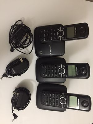Used vonage 3 sets with vonage modem. for Sale in Fairfax, VA