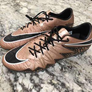 Nike Hypervenom Phinish FG ACC Soccer Cleats Bronze/Black 749901-903 Size 12 for Sale in Alexandria, VA