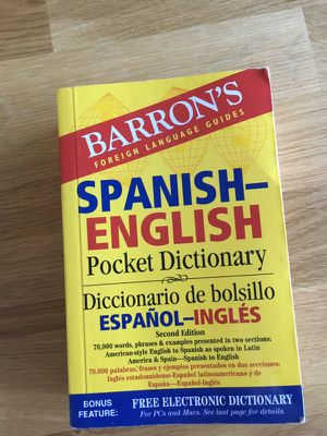 Spanish-English Pocket Dictionary for Sale in Nashville, TN