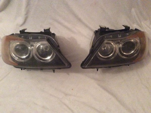 BMW headlights with lux angel eyes for pre LCI e90 335i 328i sedan for Sale  in Lake Worth, FL - OfferUp