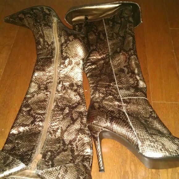599ffab4af8 Victoria's Secret Colin Stuart Snakeskin Boots for Sale in Charlotte ...