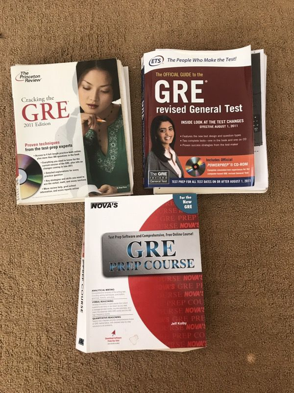 Gre Prep Books 3 Total For Sale In Carlsbad Ca Offerup