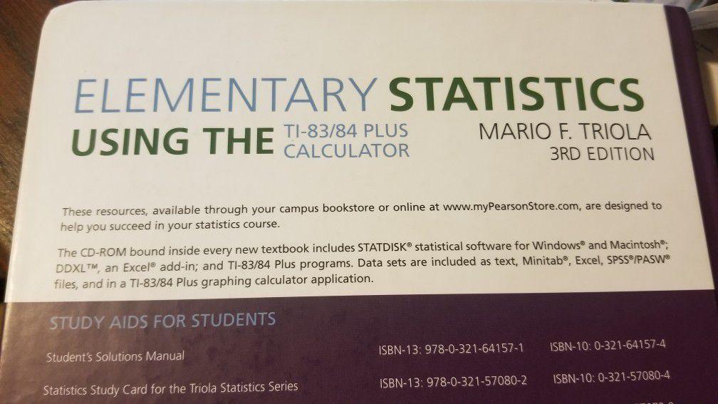 Elementary Statistics using  the Ti-83/84. plus Calculator