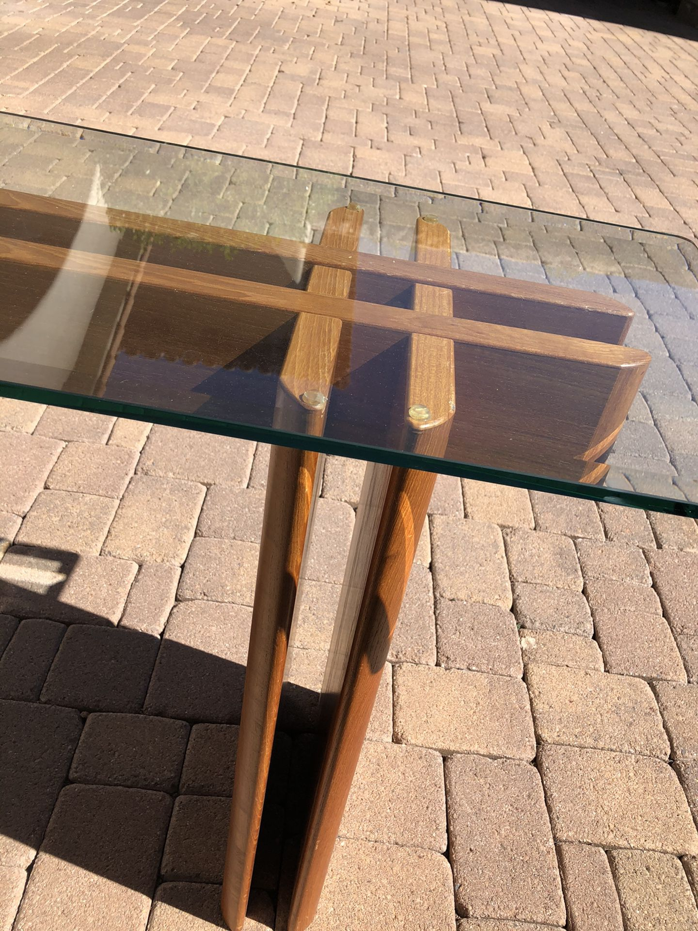 Copenhagen Teak Glass table