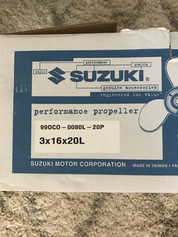 Suzuki Prop - NEW 3x16x20L (left rotation) for Sale in Pompano Beach, FL -  OfferUp