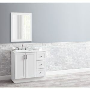 Style Selections 36.5-in White Bathroom Vanity w/Mirror ...