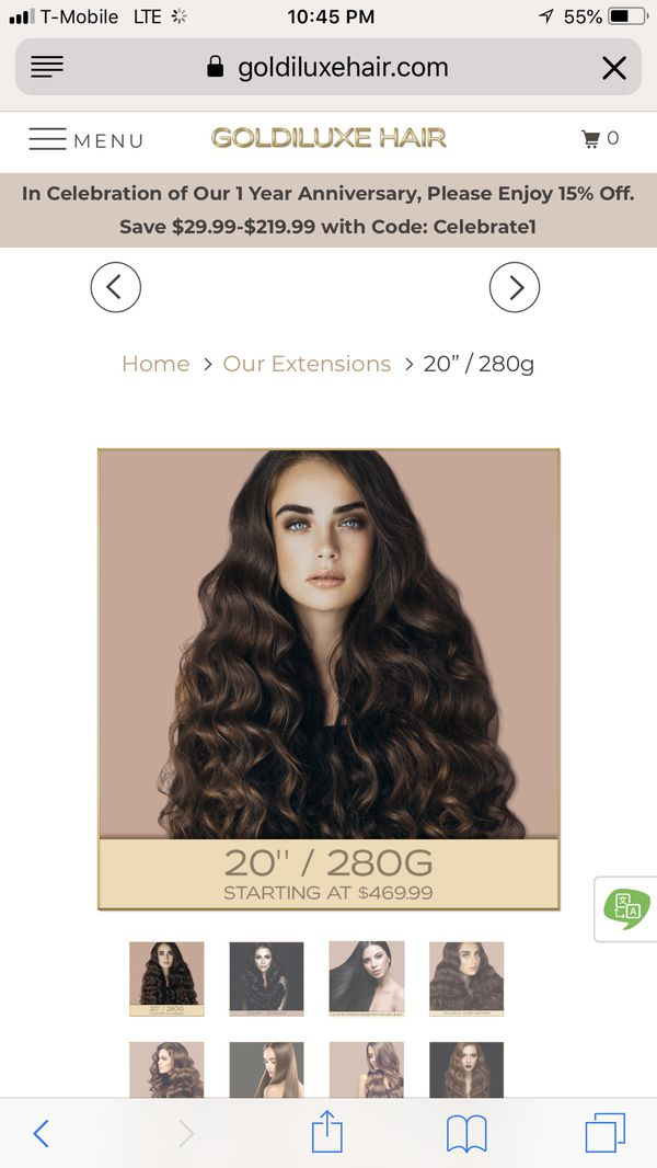 20 Clip In High Quality Human Hair Extension For Sale In Honolulu