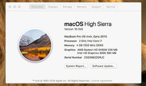 MacBook pro 2011, 256GB SSD, 8GB Ram upgraded for Sale in Annandale, VA