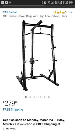 Photo Cap barbell power cage