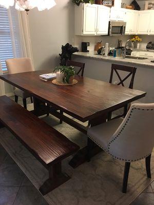 Photo Armanda Rustic Brown Wood 78-inch Trestle Dining Table