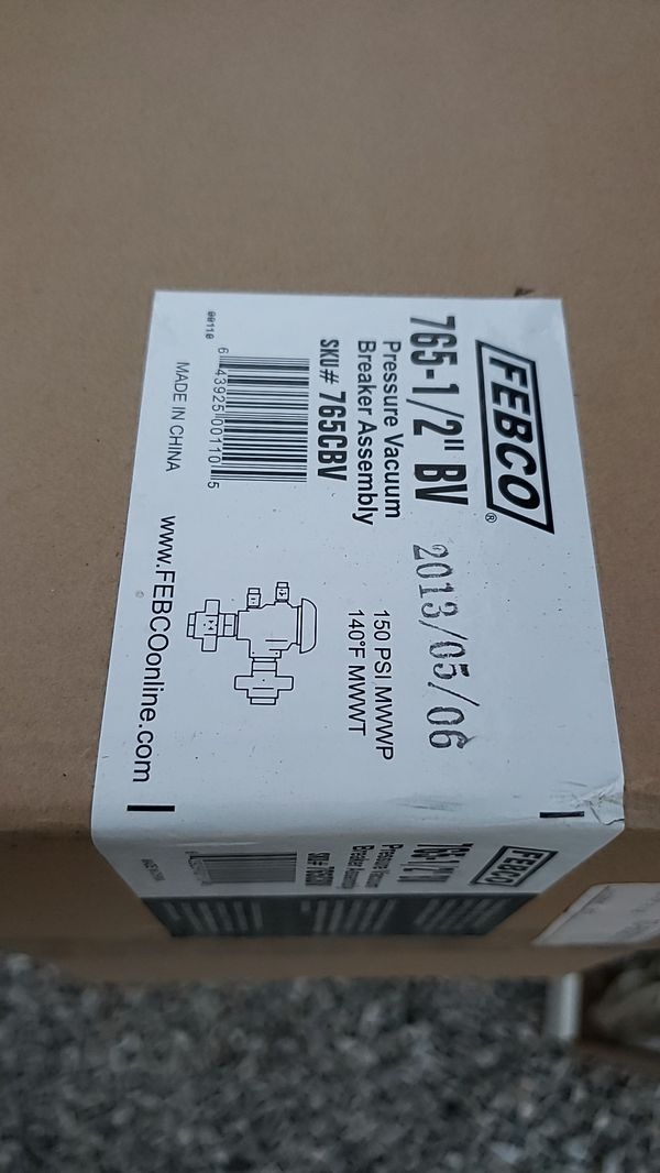 Febco 765-1 BV-Pressure Vacuum Assembly