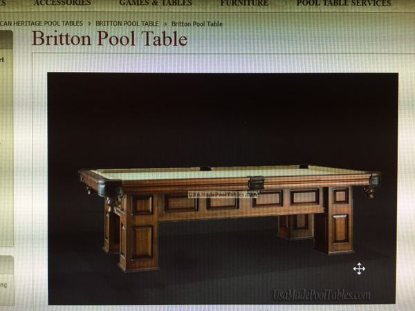Britton Pool Table For Sale In North Liberty IA OfferUp - American heritage britton pool table