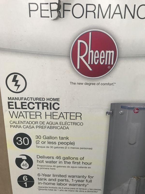 Rheem 30 Gallon Water Heater Great Deal For Sale In Los