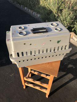 Dog or cat pet carrier 21 x 12 x 12 Thumbnail