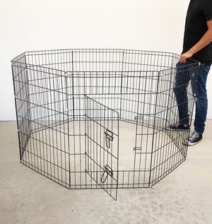 """Photo (NEW) $40 Foldable 36"""" Tall x 24"""" Wide x 8-Panel Pet Playpen Dog Crate Metal Fence Exercise Cage"""