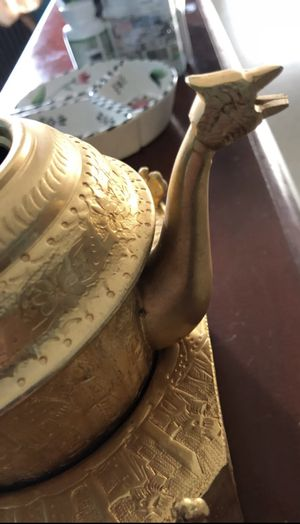 Gold Tea Kettle with Base for Sale in Washington, DC