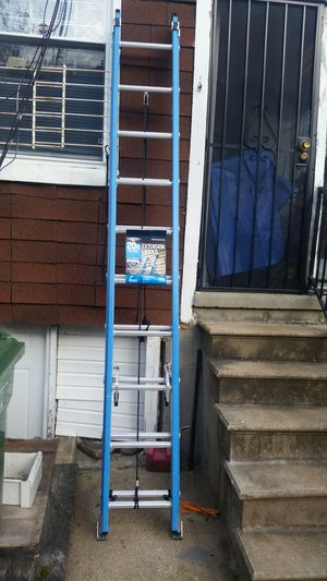 New werner 20 ft fiberglass extension ladder for Sale in Baltimore, MD
