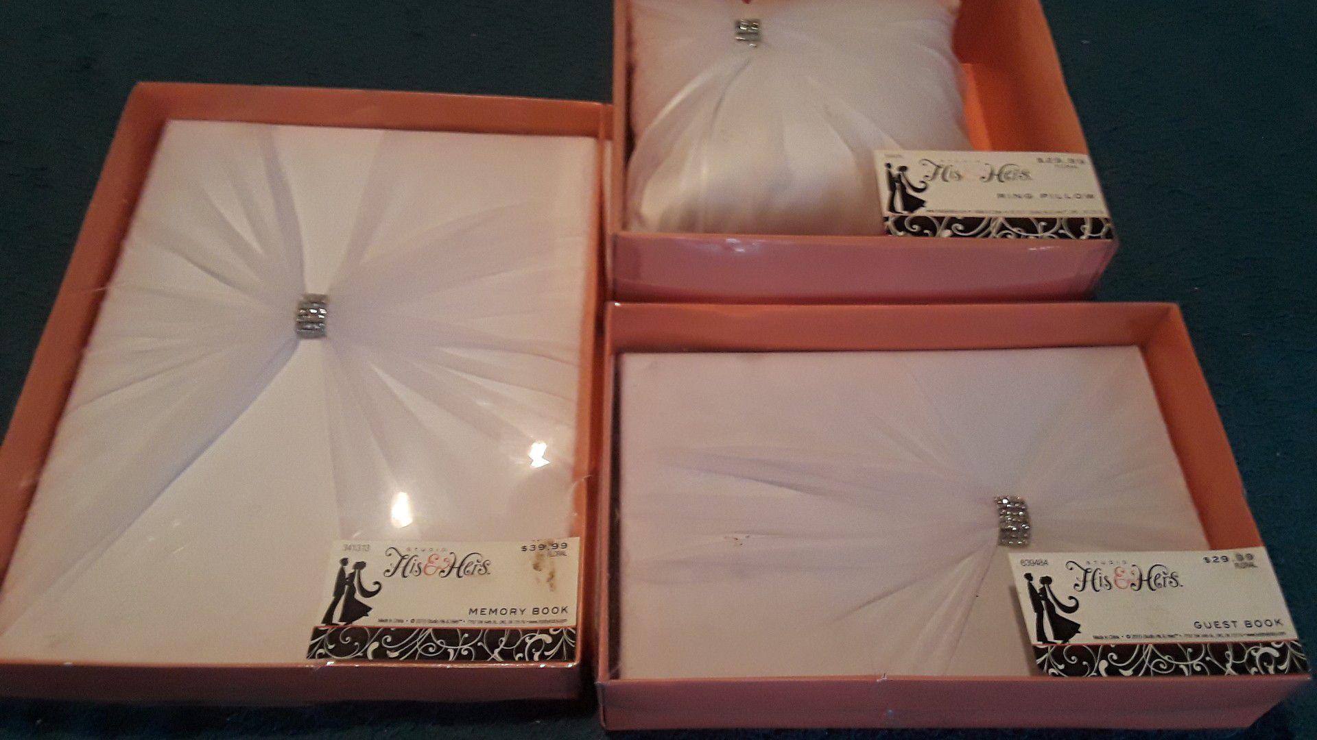 Wedding memory box,guest box ring pillow
