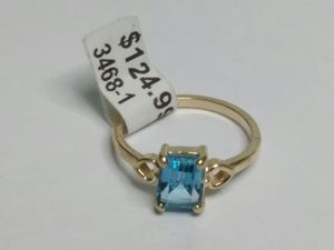 $124.99 - 2.7 gram, 14k Gold w blue stone, size 7 1/4 ring for Sale in Bonita, CA