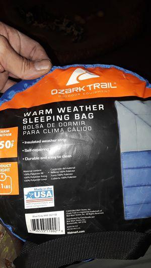 Ozark trail Warm weather sleeping bag for Sale in Las Vegas, NV