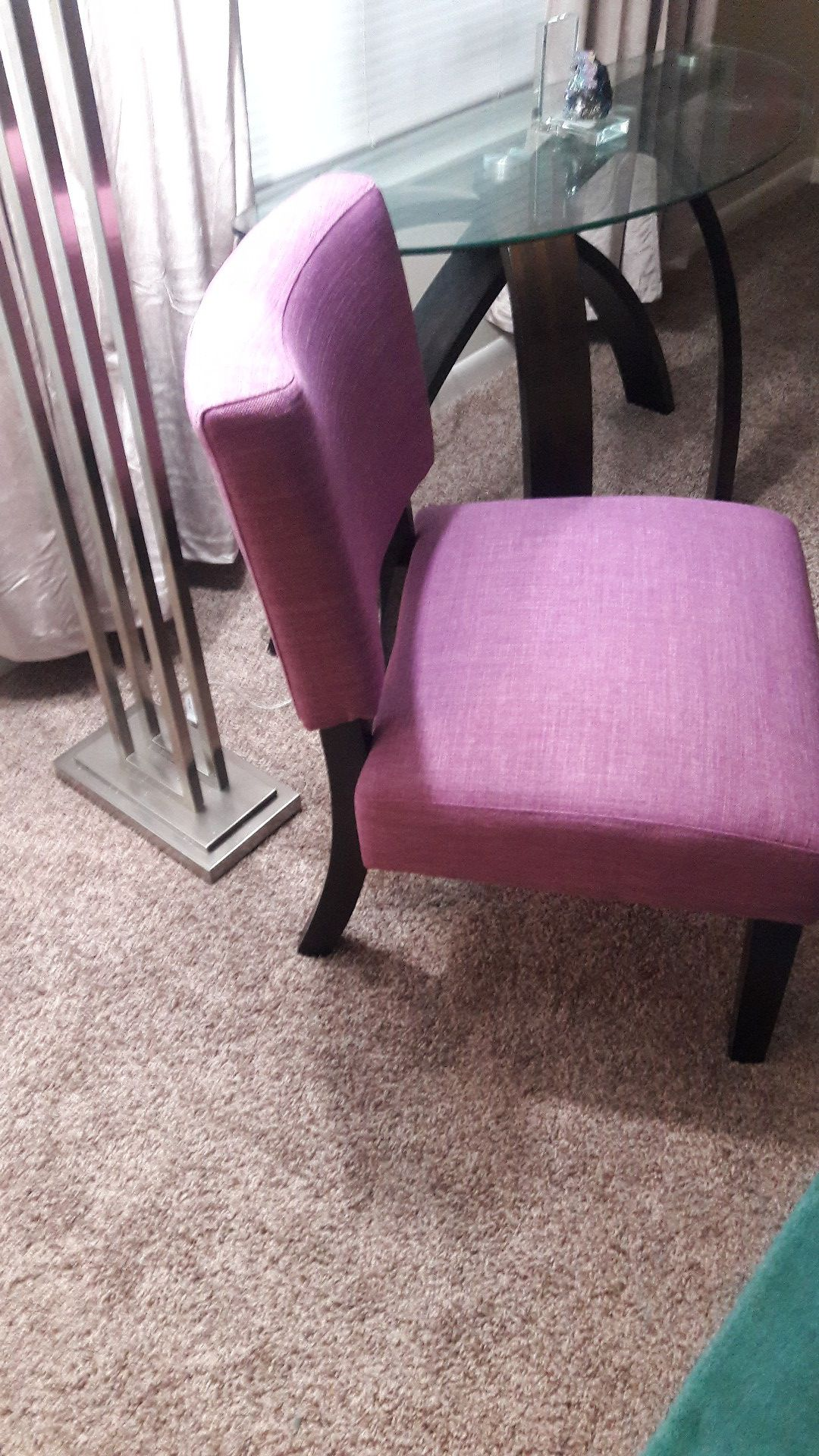 Purple chair accent